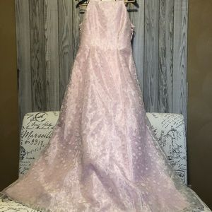Morgan and CO Linda Bernell gown prom wedding pink